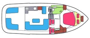 Indeling Olympia 34 Cruiser
